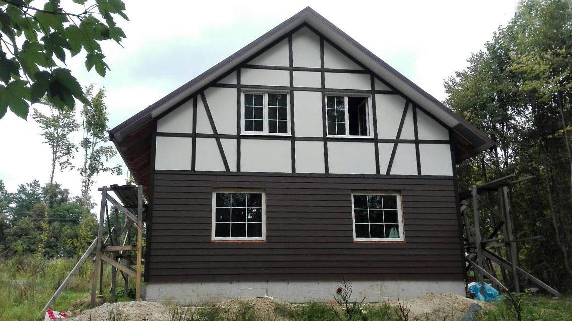 Строительство крыши каркасного дома с Фермами на МЗП