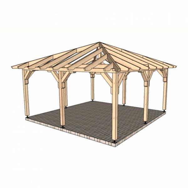 Беседка шатровая 4,5 м х 4,5 м