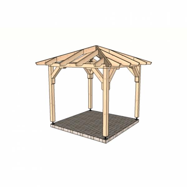 Беседка шатровая 2,3 м х 2,3 м