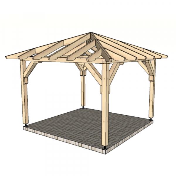 Беседка шатровая 3 м х 3 м